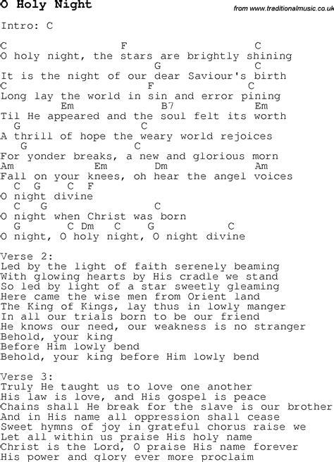Holy Night Ukulele Chord
