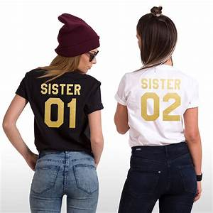 Gildan Tee Color Chart Sisters Shirts Sister 01 Sister 02 Matching Siblings T