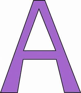Purple Letter A Clip Art - Purple Letter A Image