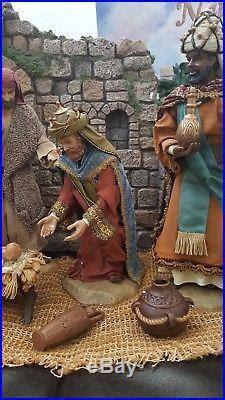 kirkland  piece large hand painted creche de noel