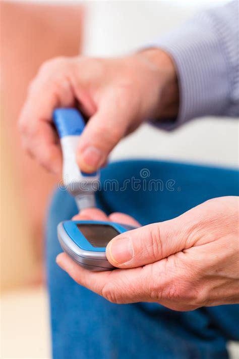 diabetes testing stock image image  high glucometer