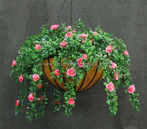 outdoor faux plants artificial hanging baskets outdoor commercial silk int 39 l