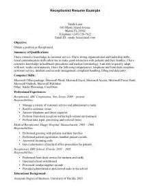 Receptionist Duties Resume Exles front desk dental resume sales dental lewesmr