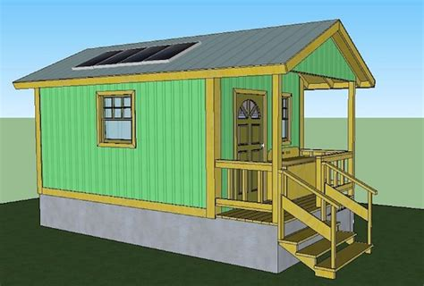 water heater shed 200 sq ft quixote cottage tiny cabin design