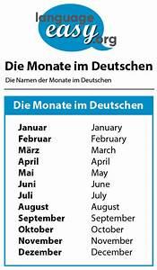 Months In German