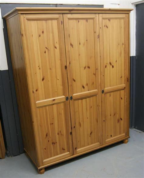 ikea leksvik triple solid pine wardrobe  marple