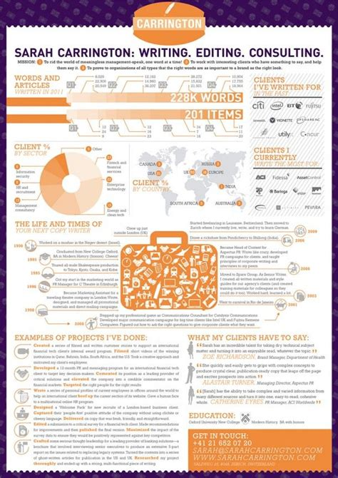 Create Your Own Infographic Resume by Infographic Resume Infographics