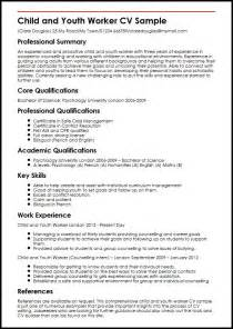 youth worker resume exles child and youth worker cv sle myperfectcv
