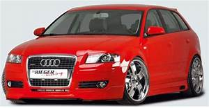 Rieger Carbon Look Front Splitter For Front Spoiler Audi