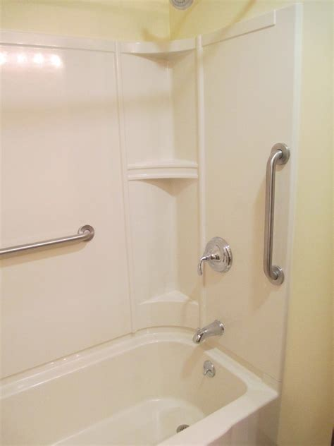 Sterling Showers And Tubs by 30x60 Sterling Accord In Biscuit Color Nh Bath Builders