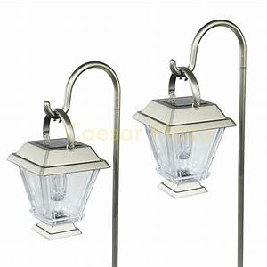 6 outdoor brass copper color 2 led solar hanging for Outdoor lighting colored lanterns