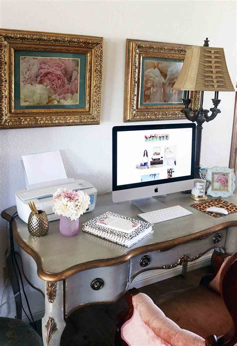 My French Inspired Desk Fresh Flowers And Home Office