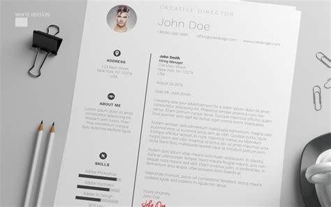 resume design template  cover letter  psd ai