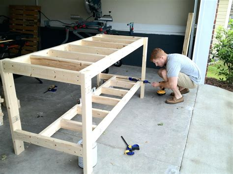 how to make a work table build a workbench plans step by wood garage work bench the
