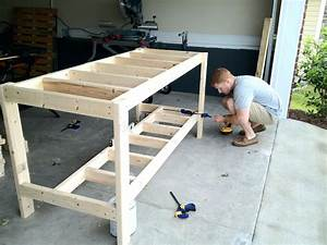 Build A Workbench Plans Step By Wood Garage Work Bench The