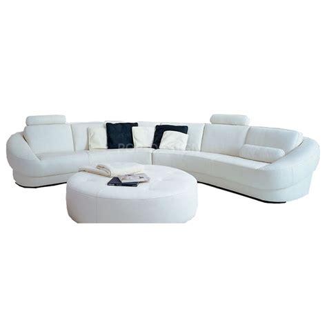 canapé d angle pouf canapé d 39 angle design en cuir aquila pouf pop design fr