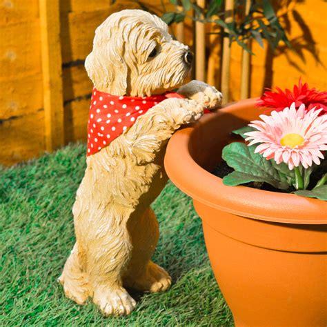 Garden Decorations Ebay by Garden Decoration Ebay Peeping Puppy Ornament Plant Pot