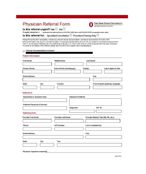 50 referral form templates medical general ᐅ template lab