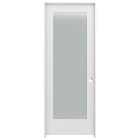 jeld wen moda primed  panel square frosted glass wood