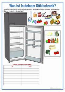 Was Ist Ein Kühlschrank : partnerarbeit was ist in deinem k hlschrank essen und trinken arbeitsblatt kostenlose daf ~ Markanthonyermac.com Haus und Dekorationen