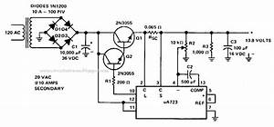 10 Amp 13 8 Volt Power Supply Description And Circuit Diagram