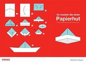 Hut Aus Papier : basteln mit papier 4 wege kreativ zu werden staples ~ Watch28wear.com Haus und Dekorationen
