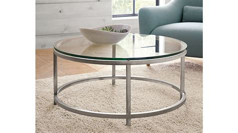 Runder Glas Couchtisch by Era Glass Coffee Table Crate And Barrel