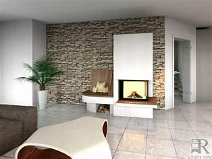 Wände Gestalten Wohnzimmer : wand gestalten mit steinen ~ Lizthompson.info Haus und Dekorationen