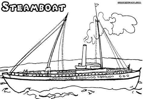 steamboat coloring pages   print