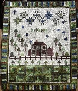 Peace Cottage Quilt Kit - 66 1/2 x 81