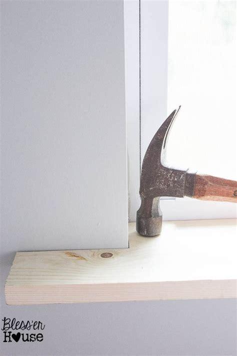 Diy Window Sill by Diy Window Trim The Easy Way Woodworking Easy Home