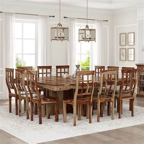 dallas ranch large square dining room table  chair set