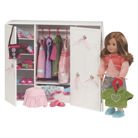 Our Generation Doll Closet our generation 174 wooden wardrobe target