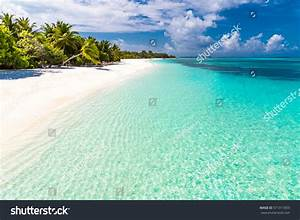 Maldives Perfect Paradise Beach Tropical Island Stock ...