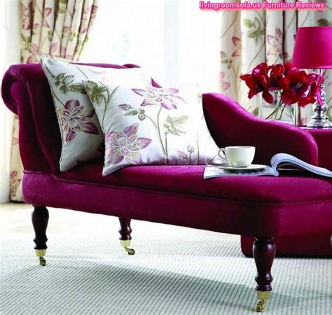 Beautiful Purple Chaise Lounge Couch For Bedroom Idea