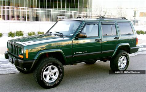 green jeep cherokee lifted 2001 jeep cherokee 4x4 sport 4 0 lifted quot service records