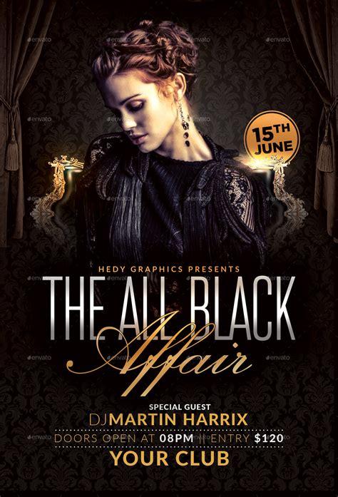 black affair flyer  hedygraphics graphicriver