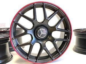 "Not sure of what mercedes wheels to go with? 19"" 19 Inch New Mercedes-Benz AMG Red Line AMG Replica Wheels Rims C Class Set 4 