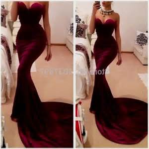 places to get bridesmaid dresses maroon mermaid prom dress 2016 2017 b2b fashion