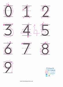 Printable Writing Sheet Numbers