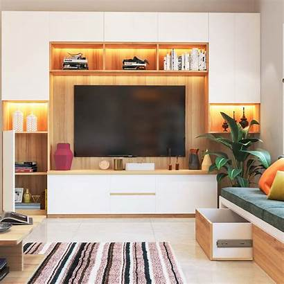 Living Cabinet Unit Bedroom Interior Simple Furniture