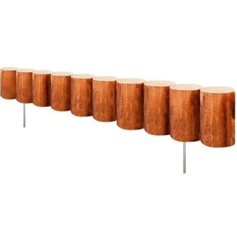 greenes fence 30 in wood log edging rc43m the home depot