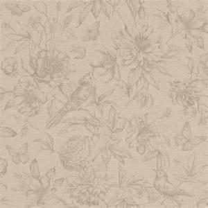 vliestapete rasch florentine blumen vogel beige 449457 With balkon teppich mit rasch tapeten florentine
