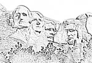 Mount Rushmore Presidents Black and White Art