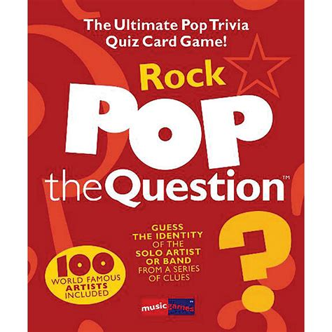 Guess the song on a simple and free multiplayer music quiz! Music Sales Pop The Question Rock - The Ultimate Pop Trivia Quiz Card Game | Musician's Friend