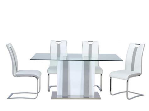 ensemble table chaises ensemble table ciara 4 chaises matilda gris blanc