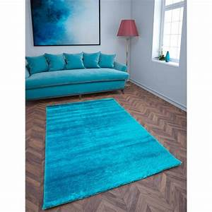 mat shaggy show brilliant and elegant 120 x 170 cm shaggy With tapis shaggy turquoise