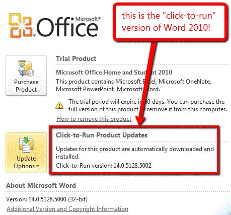 office 2010 click to run wordfast wiki