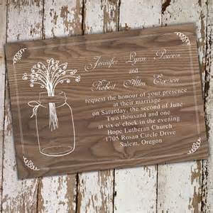 rustic wedding invitations rustic wood jars wedding invitations ewi245 as low as 0 94