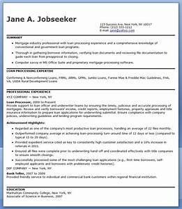 Mortgage loan processor resume templates resume downloads for Mortgage loan processor resume template